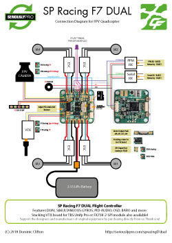 SP Racing F7 DUAL - FPV Quad Connection Diagram